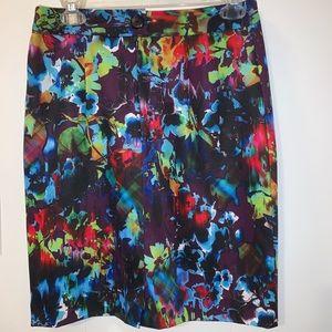 Nanette Lepore• Floral Multi-Colored Pencil Skirt